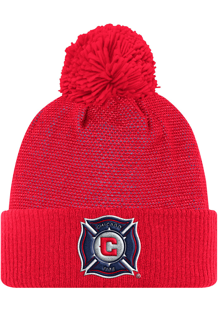 Adidas Chicago Fire Red 2017 Authentic Team Mens Knit Hat - Image 1