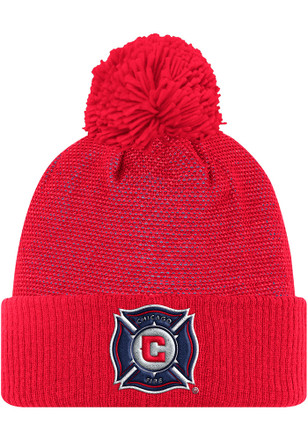 Adidas Chicago Fire Mens Red 2017 Authentic Team Knit Hat