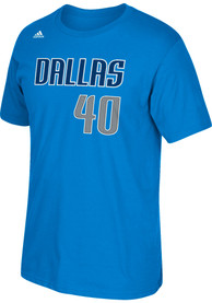 Harrison Barnes Dallas Mavericks Blue Name and Number Player Tee