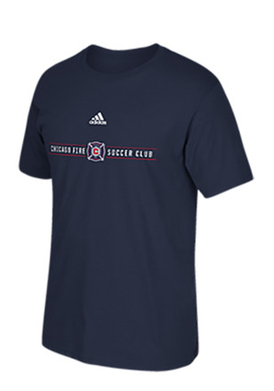Adidas Chicago Fire Navy Blue Wordmark Tee