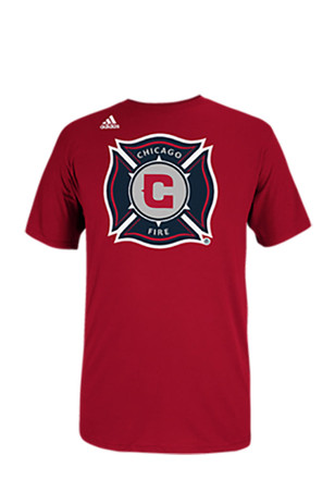 Adidas Chicago Fire Mens Red Team Logo Tee