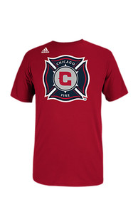 Adidas Chicago Fire Red Team Logo Tee