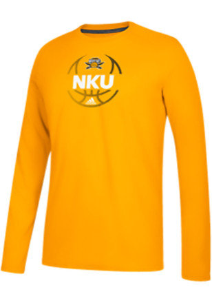 Adidas Northern Kentucky Norse Mens Gold Fade Away Tee