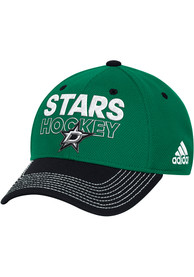 Dallas Stars Adidas Locker Room Structure Flex Hat - Kelly Green