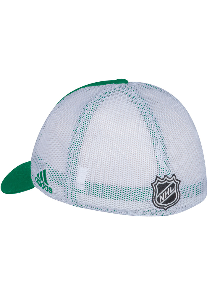 Adidas Dallas Stars Mens Kelly Green Meshback Slouch Flex Hat - Image 2
