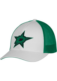 Dallas Stars Adidas Meshback Trucker Adjustable Hat - White