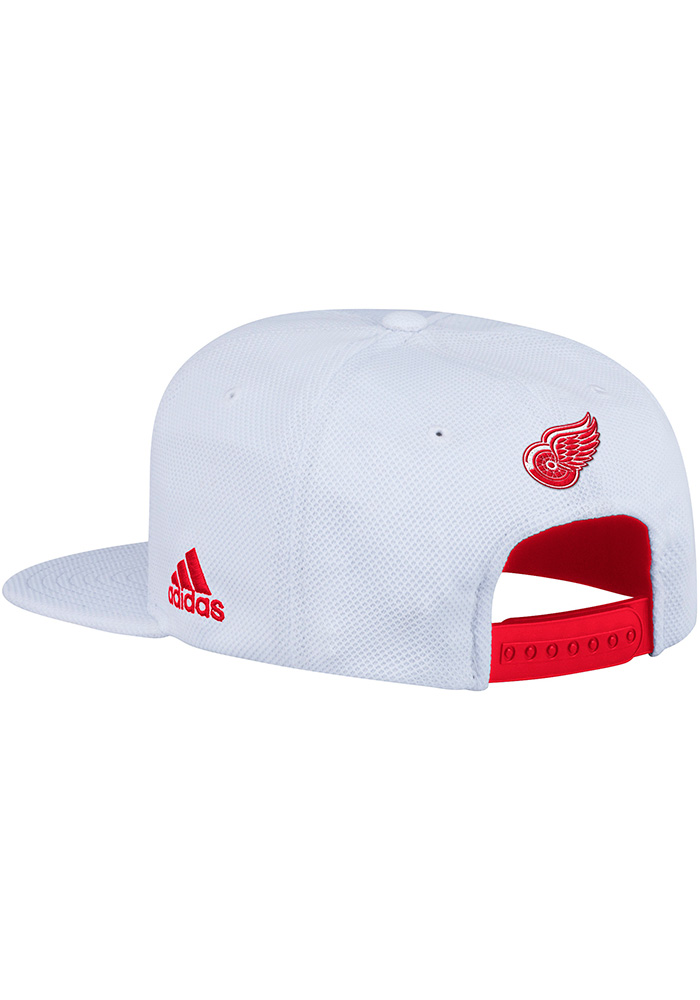 Adidas Detroit Red Wings White Hockey Stripe Mens Snapback Hat - Image 2