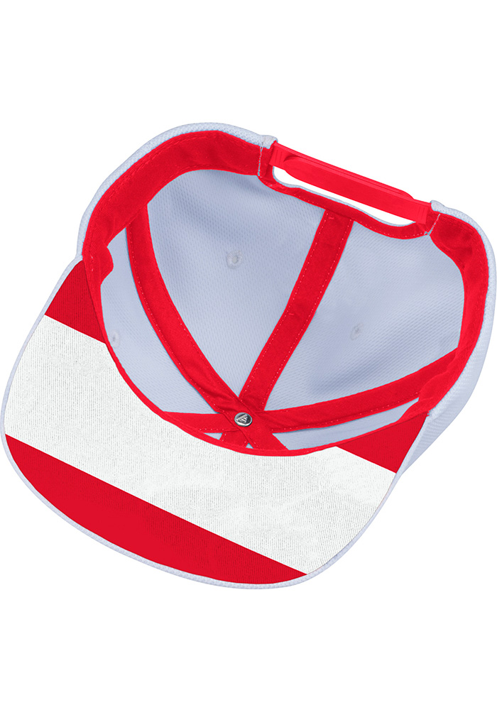 Adidas Detroit Red Wings White Hockey Stripe Mens Snapback Hat - Image 3
