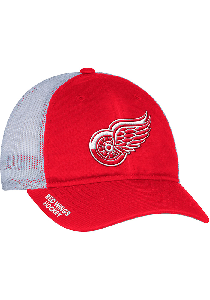 Adidas Detroit Red Wings Mens Red Meshback Slouch Flex Hat - Image 1