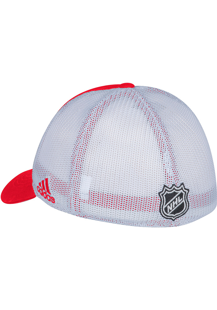 Adidas Detroit Red Wings Mens Red Meshback Slouch Flex Hat - Image 2