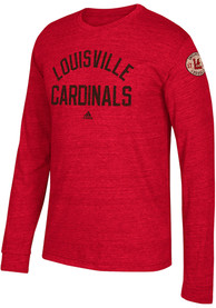 Adidas Louisville Cardinals Red Arched Heritage Fashion Tee
