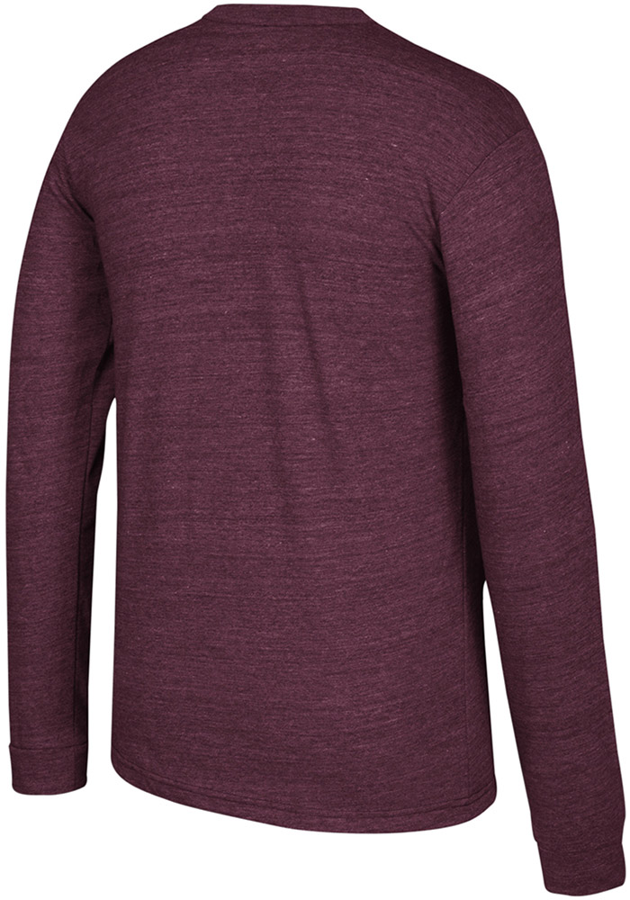 Adidas Texas A&M Aggies Maroon Arched Heritage Long Sleeve Fashion T Shirt - Image 2