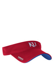 Adidas KU Jayhawks Mens Red Adjustable Visor