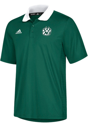 Adidas Northwest Missouri State Bearcats Mens Green Sideline Coaches Short Sleeve Polo Shirt