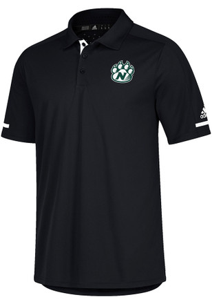 Adidas Northwest Missouri State Bearcats Mens Black Sideline Climachill Short Sleeve Polo Shirt