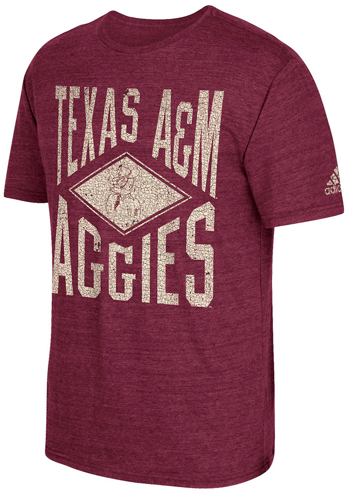 Adidas Texas A&M Aggies Maroon Diamond Mine Fashion Tee