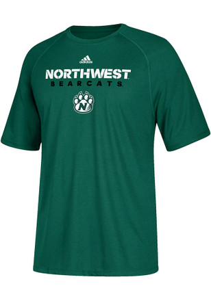 Adidas Northwest Missouri State Mens Green Sideline Short Sleeve T Shirt