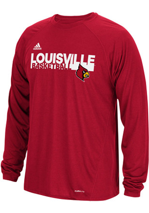 Adidas Louisville Cardinals Mens Red Practice Tee