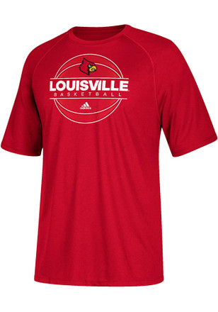 Adidas Louisville Cardinals Mens Red On Court Tee