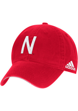 Adidas Nebraska Cornhuskers Mens Red 2017 Coach Slouch Adjustable Hat