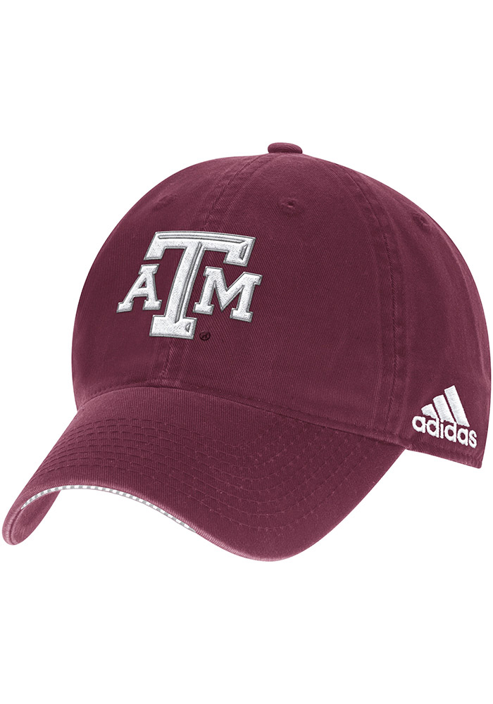 Adidas Texas A&M Aggies 2017 Coach Slouch Adjustable Hat - Maroon - Image 1