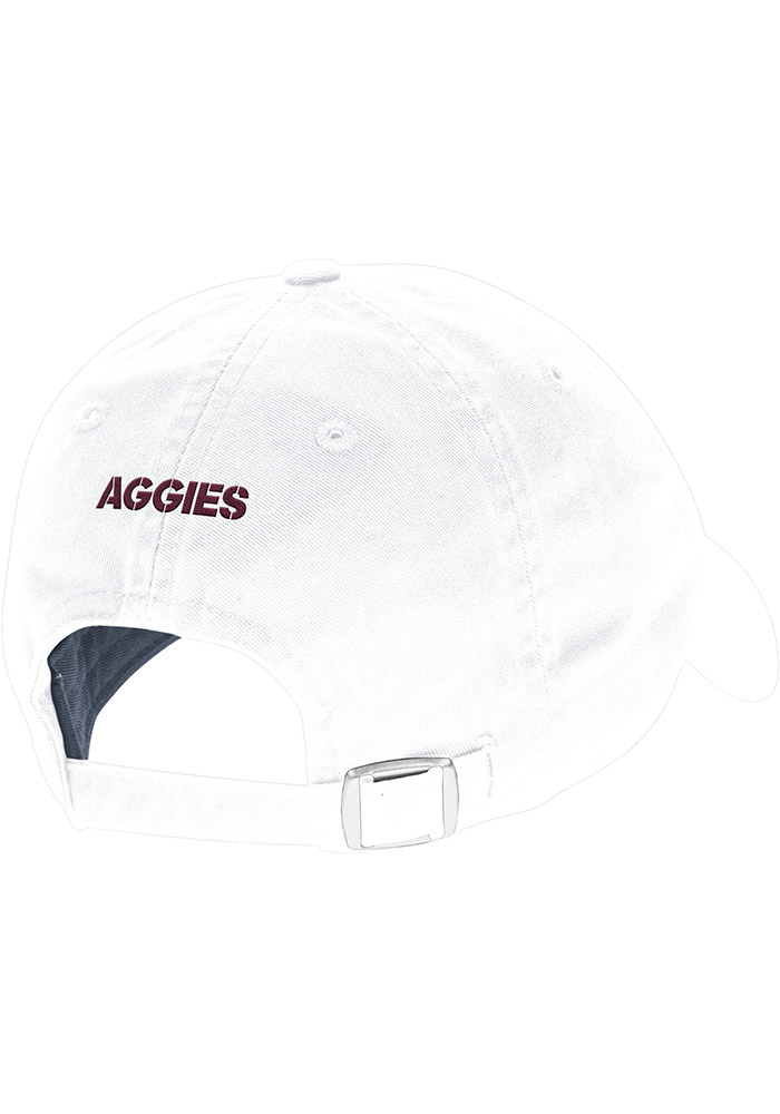 Adidas Texas A&M Aggies Mens White 2017 Coach Slouch Adjustable Hat - Image 2