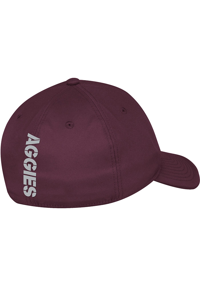 Adidas Texas A&M Aggies Mens Maroon 2017 Coach Slope Flex Hat - Image 2