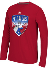 Adidas FC Dallas Red screen print Tee