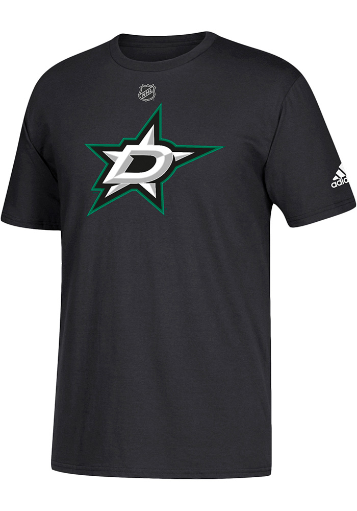 Adidas Dallas Stars Black Primary Position Short Sleeve T Shirt - Image 1