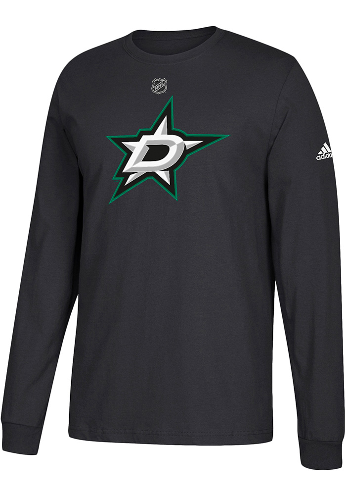 Adidas Dallas Stars Black Primary Position Long Sleeve T Shirt - Image 1