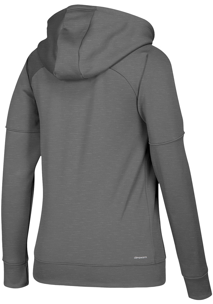 Adidas Kansas Jayhawks Womens Grey Primary Logo Long Sleeve Full Zip Jacket - Image 2