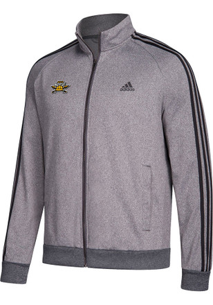 Adidas Northern Kentucky Norse Mens Grey 3 Stripe Track Jacket