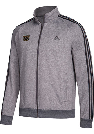 Adidas Western Michigan Broncos Mens Grey 3 Stripe Track Jacket