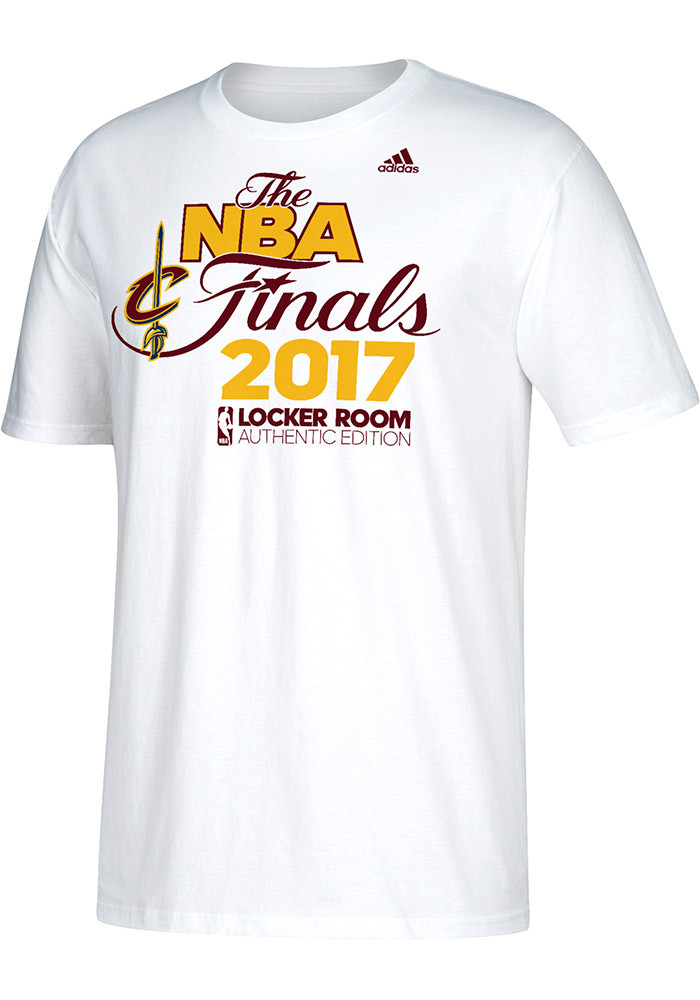 Adidas Cleveland Cavaliers Mens White 2017 Conference Champions Short Sleeve T Shirt - Image 1