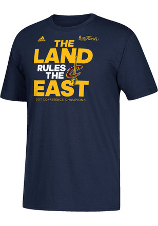 Adidas Cleveland Cavaliers Mens Navy Blue 2017 Conference Champions Tee