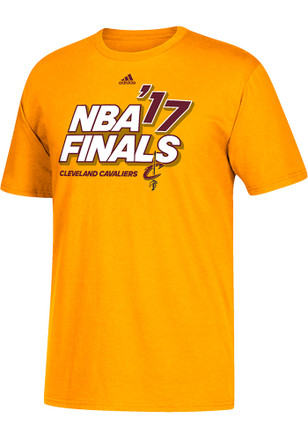 Adidas Cleveland Cavaliers Mens Gold 2017 NBA Finals Tee