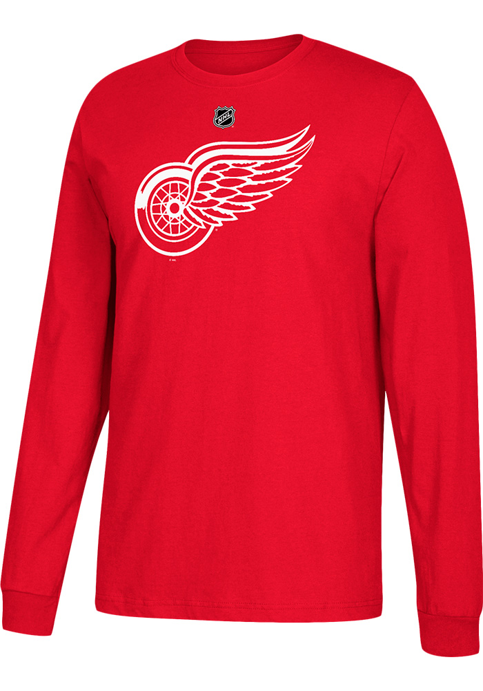 Dylan Larkin Detroit Red Wings Red Play Long Sleeve Player T Shirt - Image 2