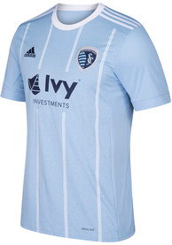 Sporting Kansas City Adidas 2018 Primary Replica Soccer - Light Blue