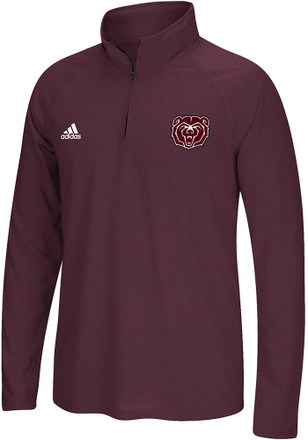 Adidas Missouri State Bears Mens Maroon Primary 1/4 Zip Pullover