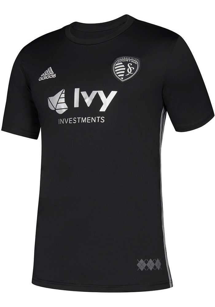 7b8f52da7d5 Adidas Sporting Kansas City Youth Black 2018 Secondary Soccer Jersey -  Image 1
