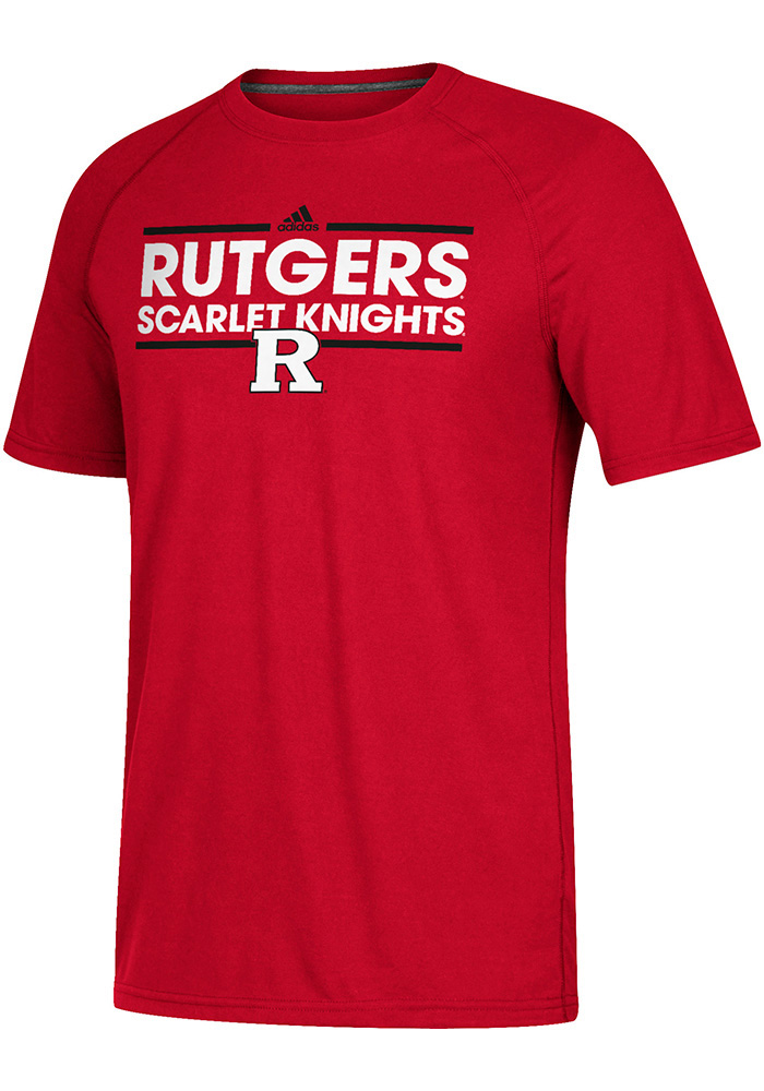 Adidas Rutgers Scarlet Knights Red Dassler Short Sleeve T Shirt - Image 1