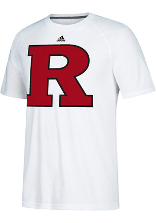 Adidas Rutgers Scarlet Knights Mens White Preferred Tee