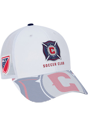 Adidas Chicago Fire Mens White Authentic Team Structured Adjustable Hat