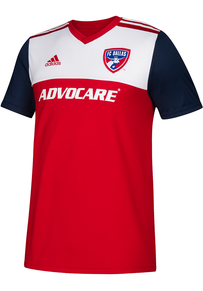Adidas FC Dallas Youth Red 2018 Primary Soccer Jersey - Image 1