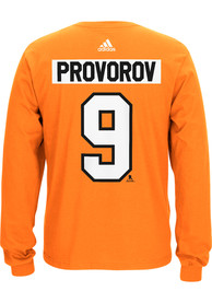 Ivan Provorov Philadelphia Flyers Orange Play Long Sleeve Player T Shirt