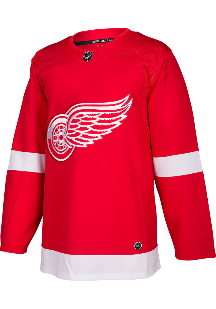 Adidas Detroit Red Wings Mens Red 2017 Home Authentic Hockey Jersey - Image 1