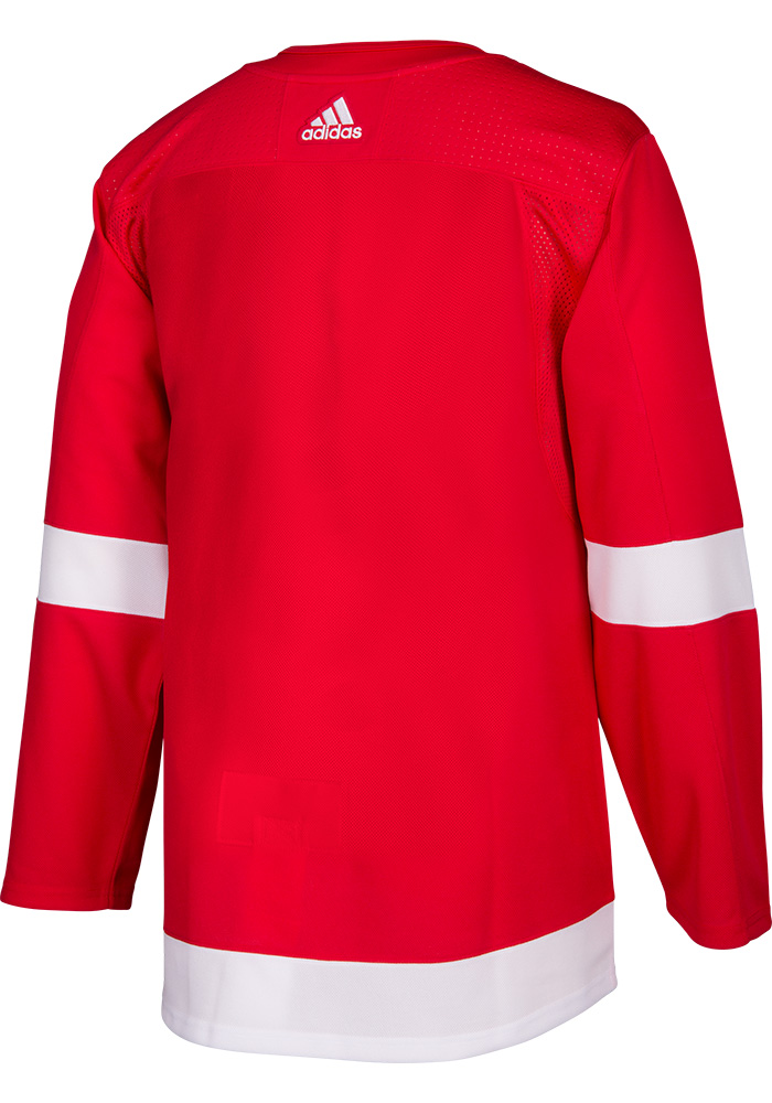 Adidas Detroit Red Wings Mens Red 2017 Home Authentic Hockey Jersey - Image 2