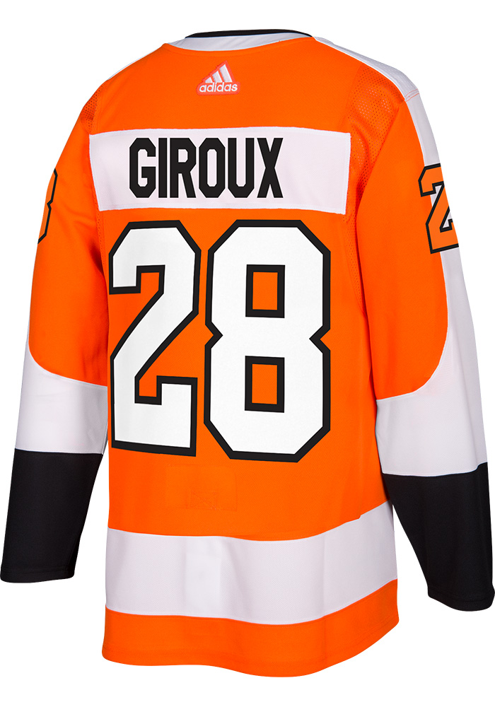 Claude Giroux Philadelphia Flyers Mens Orange 2017 Home Hockey Jersey - Image 1