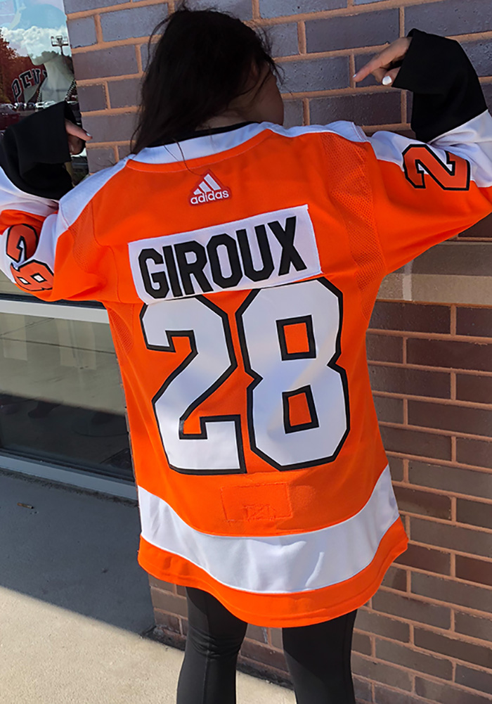 Claude Giroux Philadelphia Flyers Mens Orange 2017 Home Hockey Jersey - Image 3
