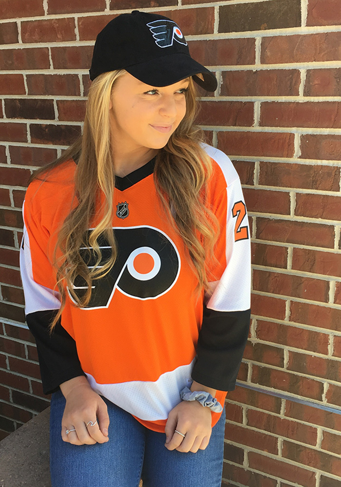 Claude Giroux Philadelphia Flyers Mens Orange 2017 Home Hockey Jersey - Image 7